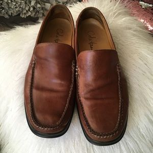 Cole Haan leather loafer shoes Nike Air soles 10.5